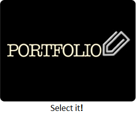 portfolio button, Click it!